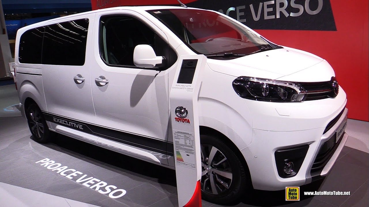 2018 toyota proace verso van exterior and interior walkaround 2017 frankfurt auto show. Black Bedroom Furniture Sets. Home Design Ideas