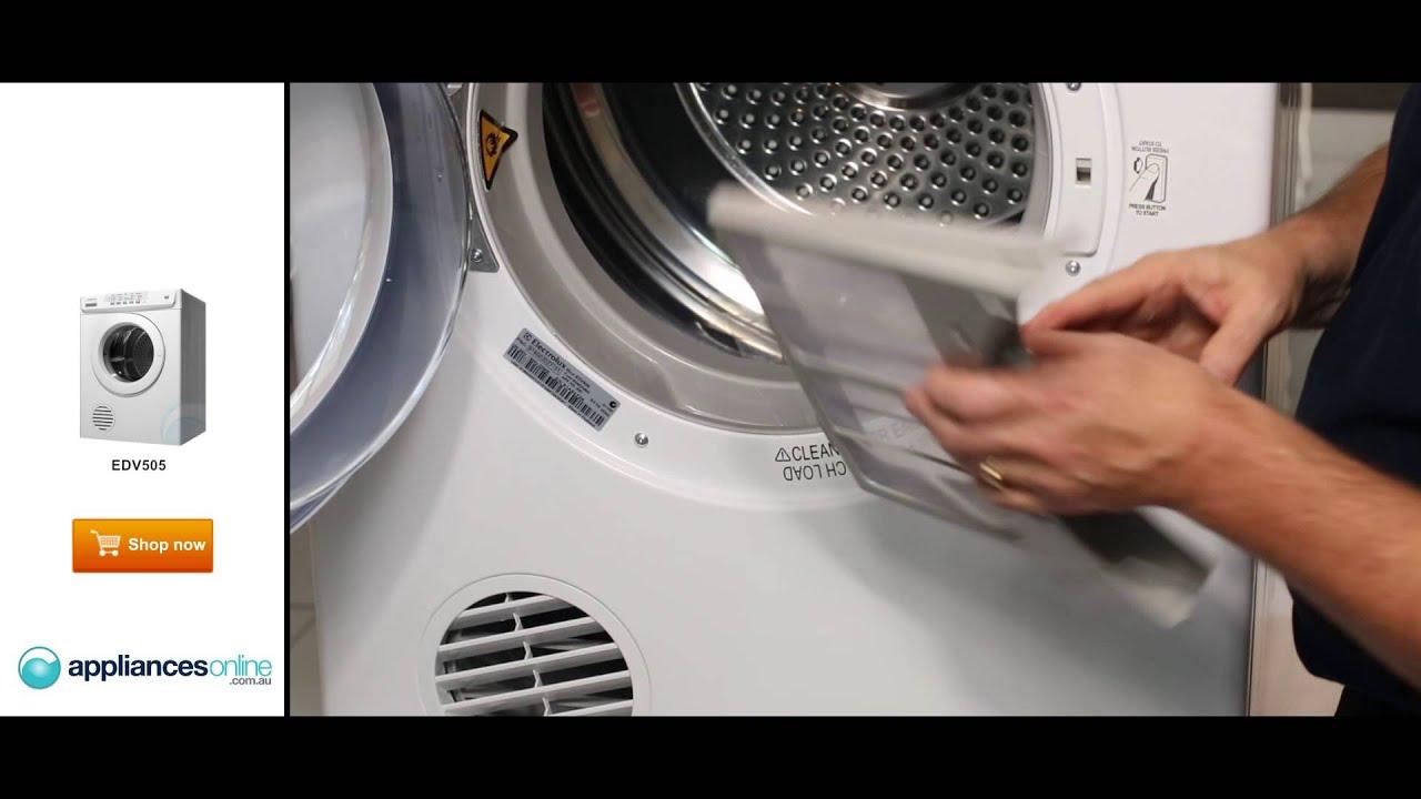 product expert explains electrolux s easy to use edv505 5kg dryer rh youtube com electrolux sensor dryer 5kg edv605 manual electrolux sensor dryer 5kg edv605 manual