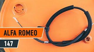 Cómo cambiar Cable de accionamiento freno de estacionamiento ALFA ROMEO 147 (937) - vídeo gratis en línea