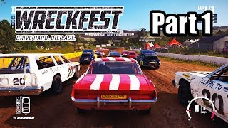 Wreckfest - Career Walkthrough Gameplay Part 1 | PS4 PRO (No Commentary)