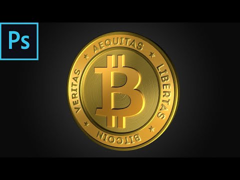Making A 3D Bitcoin In Photoshop