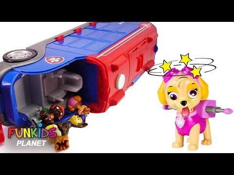 Thumbnail: Learning Videos for Children: Paw Patrol Skye & Chase Crash Mission Cruiser Doc McStuffins Rescues