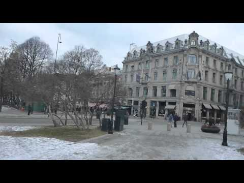 Outside the Parliament in Oslo   Norway   February 2015