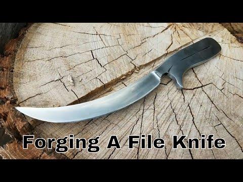 BlackSmithing - Forging A Custom File Knife