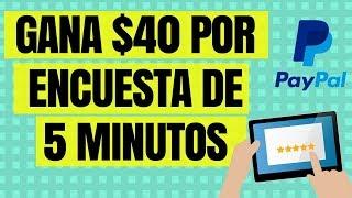 PAGINA QUE PAGA HASTA 40 DOLARES POR ENCUESTA DE 5 MINUTOS - DINERO EN INTERNET