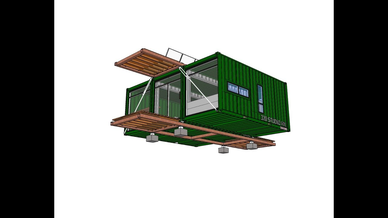 shipping container house - 320 studio mx - honeybox.ca - youtube