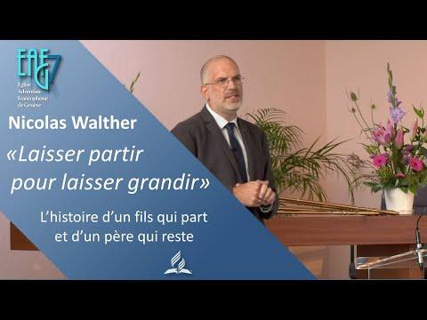 """Culte du 25 Septembre 2021 - Nicolas Walther """"Laisser partir pour laisser grandir"""""""