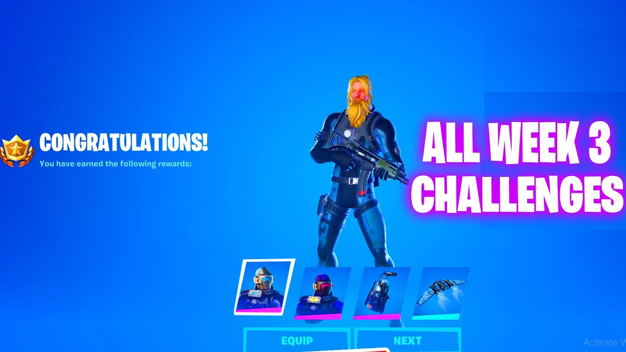 ALL WEEK 3 CHALLENGES GUIDE FORTNITE CHAPTER 2 SEASON 3