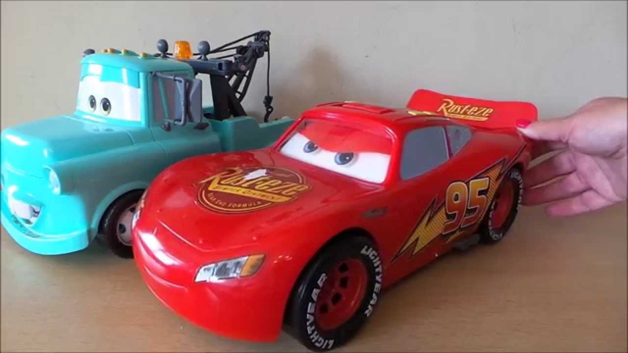 Disney Cars Toys Youtube: Disney Pixar Cars 2 Gear Up & Go Lightning McQueen & Tow