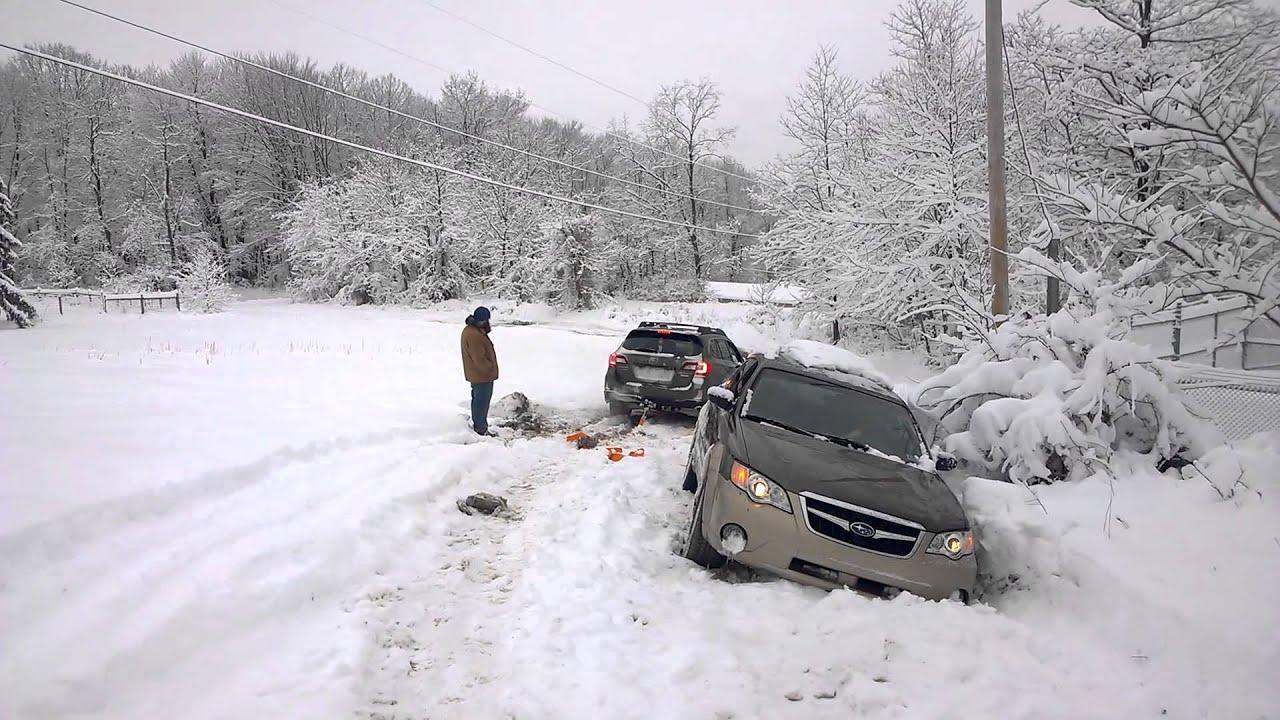 Rally Car Wallpaper Snow Subaru Snow Recovery Youtube