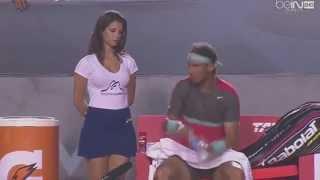 Hot girl VS Rafa Nadal's self control FULL (ORIGINAL)
