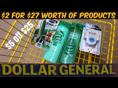 In Store Dollar General Couponing Breakdown for $5 Off $25