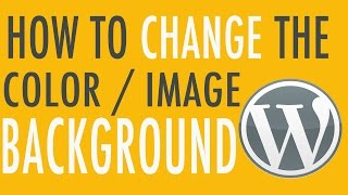 Change the Background Image or Color in WordPress
