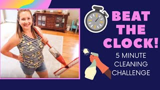 5 MINUTE CLEANING CHALLENGE // FIVE MINUTE CLEAN WITH ME // 2020 CLEANING CHALLENGE