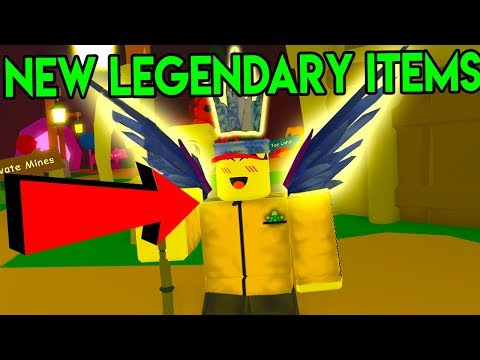 ROBLOX MINING SIMULATOR *NEW STRONGEST ITEMS!?*