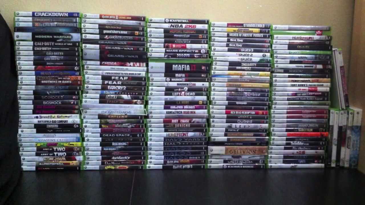 My Xbox 360 Game Collection Part 1 Of 5 165 Games Youtube