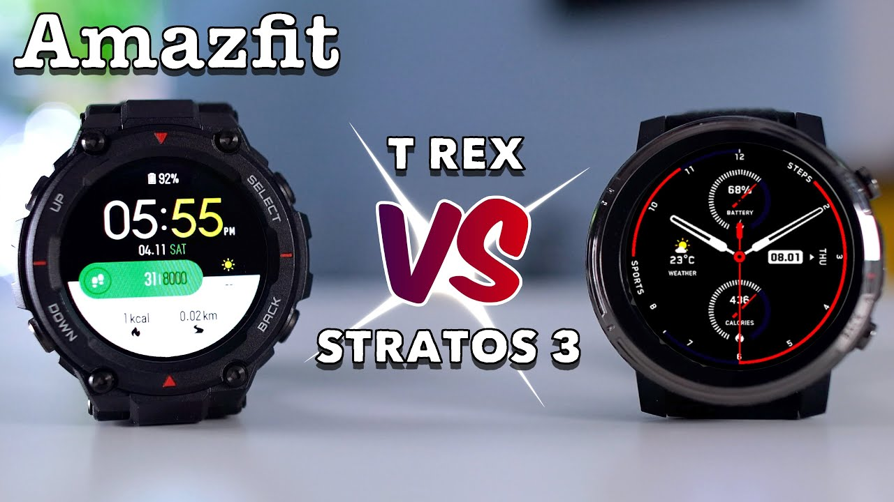 Amazfit T Rex vs Stratos 3 (Review) - 4 Key Differences You Need to Know!