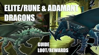 Runescape 3! RUNE & ADAMANT Dragons | Mechanics/Guide + Glaiven Wing-Tip Drop!