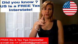 The USA is a Tax FREE Interstate! - So Why Now Sales & Nexus?  👀