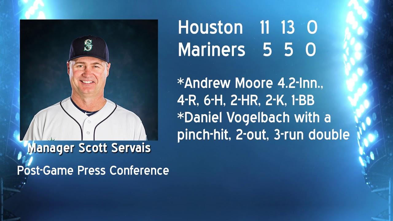 Scott Servais on Astros Loss 2019-06-04