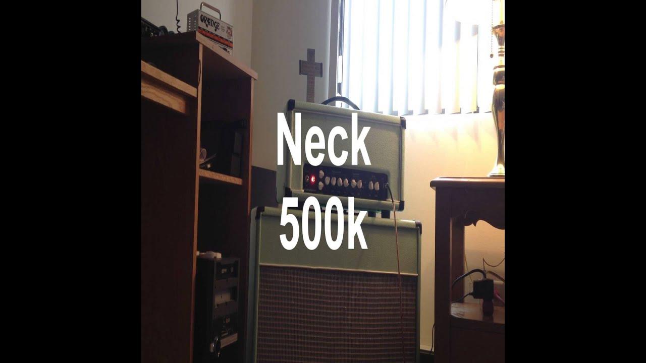 250k Vs 500k In 72 Tele Deluxe Reissue Youtube Fender Telecaster Wiring Diagram