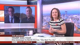 BBC World News The Briefing - Trump Asia tour