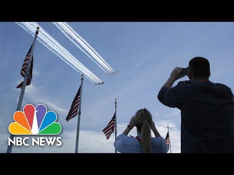 Blue Angels And Thunderbirds Perform Flyover Of Washington, D.C. | NBC News