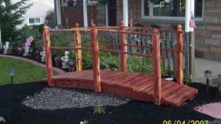 Landscape Bridges Garden Bridges For Landscaped Yards Www.redwoodbridges.com
