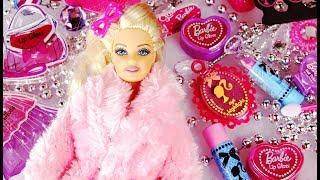 BARBIE Cosmetic Calendar LIP GLOSS Frozen Elsa Nail Polish Perfume Dress Handbag Toys Beauty