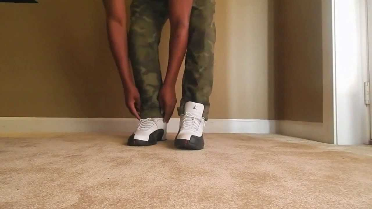 2013 Air Jordan Retro 12 Taxi On Foot Only Youtube