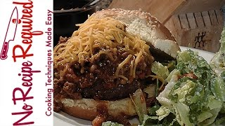 Cincinnati Bengals Chili Burger - NFL Burgers - NoRecipeRequired.com