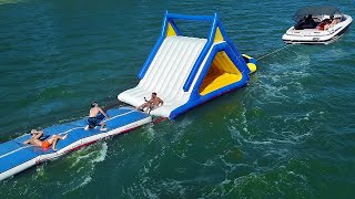 Towing A Water Park Behind A Boat