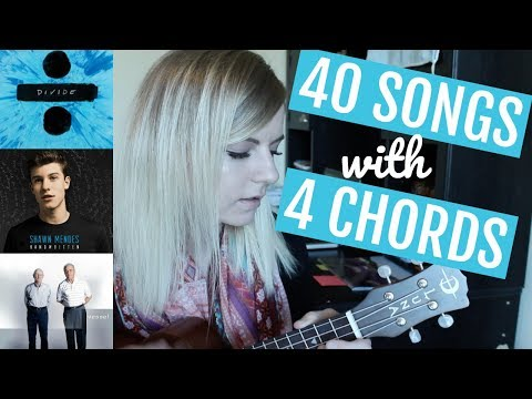4  basic chords, 40 songs on ukulele