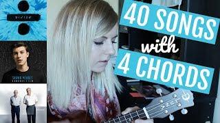 4  basic chords, 40 songs on ukulele