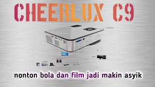 Cheerlux C9 mini projector 2800 lumens with analog TV .