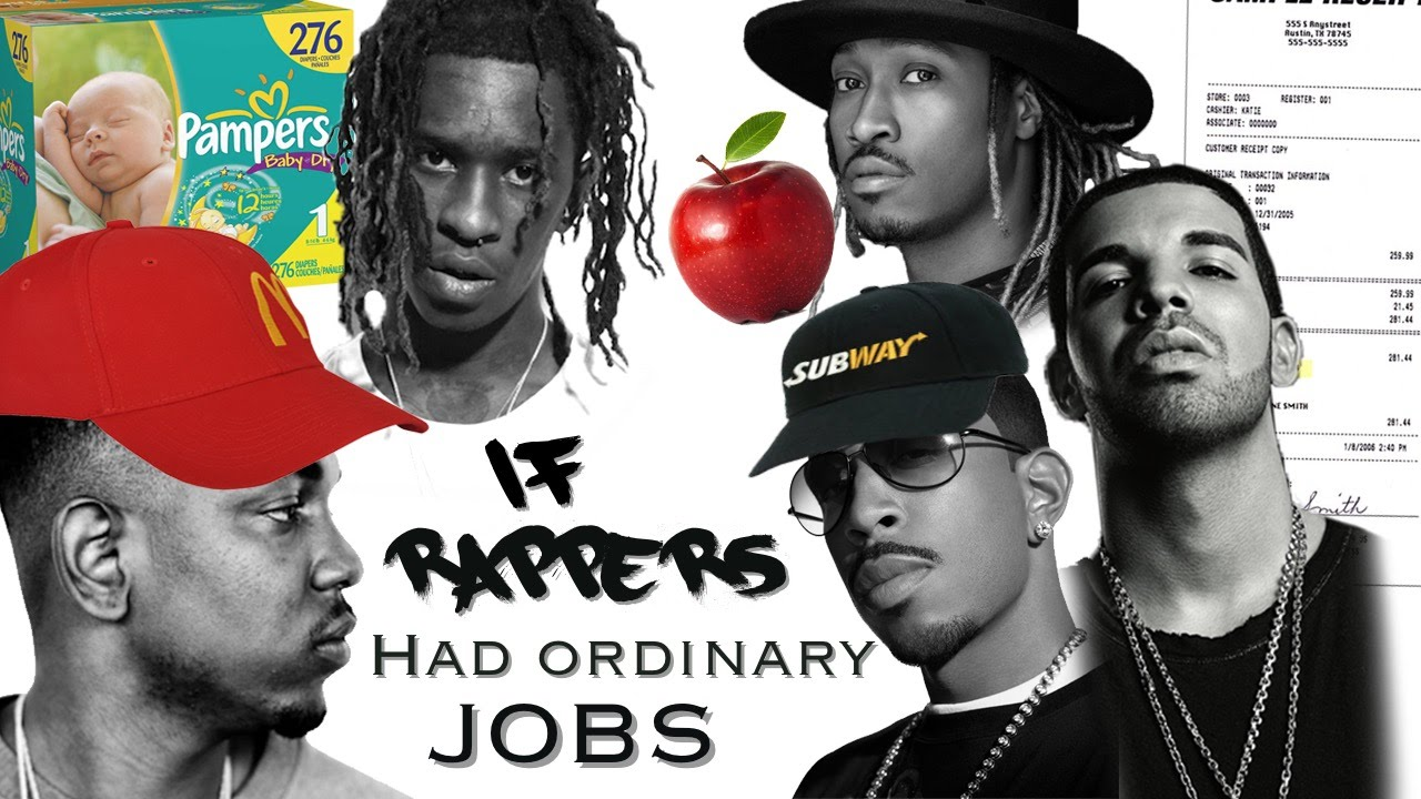 if RAPPERS had ordinary jobs