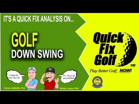 Golf Drill Hip Turn Left Knee - YouTube