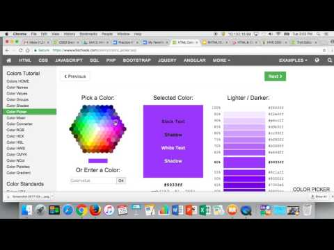 Using The HTML Color Picker