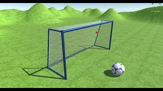 Unity 3d football Kick And Net Animation With Cloth Component