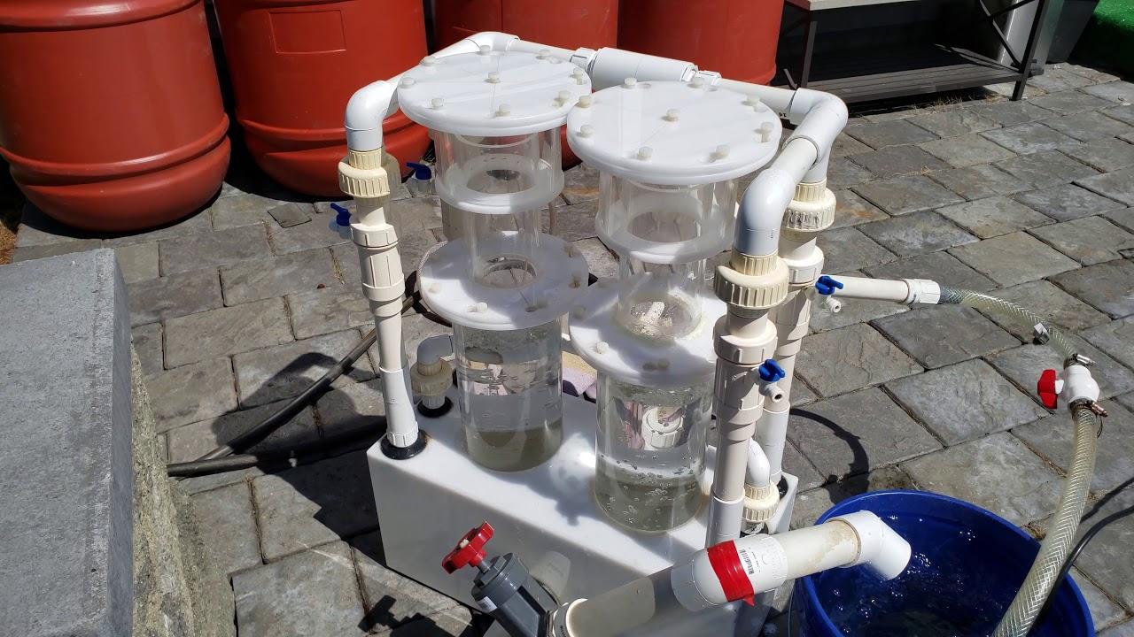 Double barrel 1000+ gallon saltwater protein skimmer