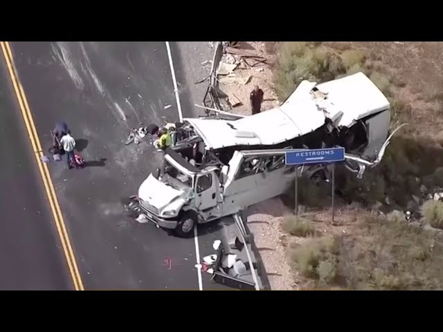 At least 4 Chinese tourists dead in tour bus crash in U.S.