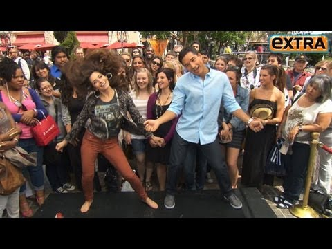 Sarah Shahi s Off Her Cheerleader Moves at the Grove!