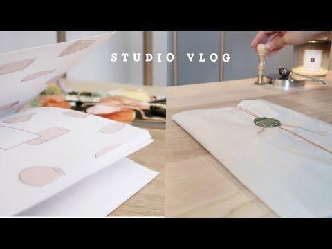 Studio Vlog ☾ Packing Etsy Order \u0026 Making Handmade Planner