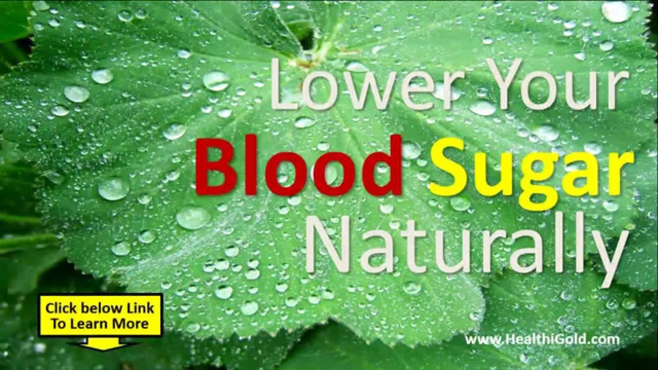 Natural Ways To Decrease Blood Sugar Quickly