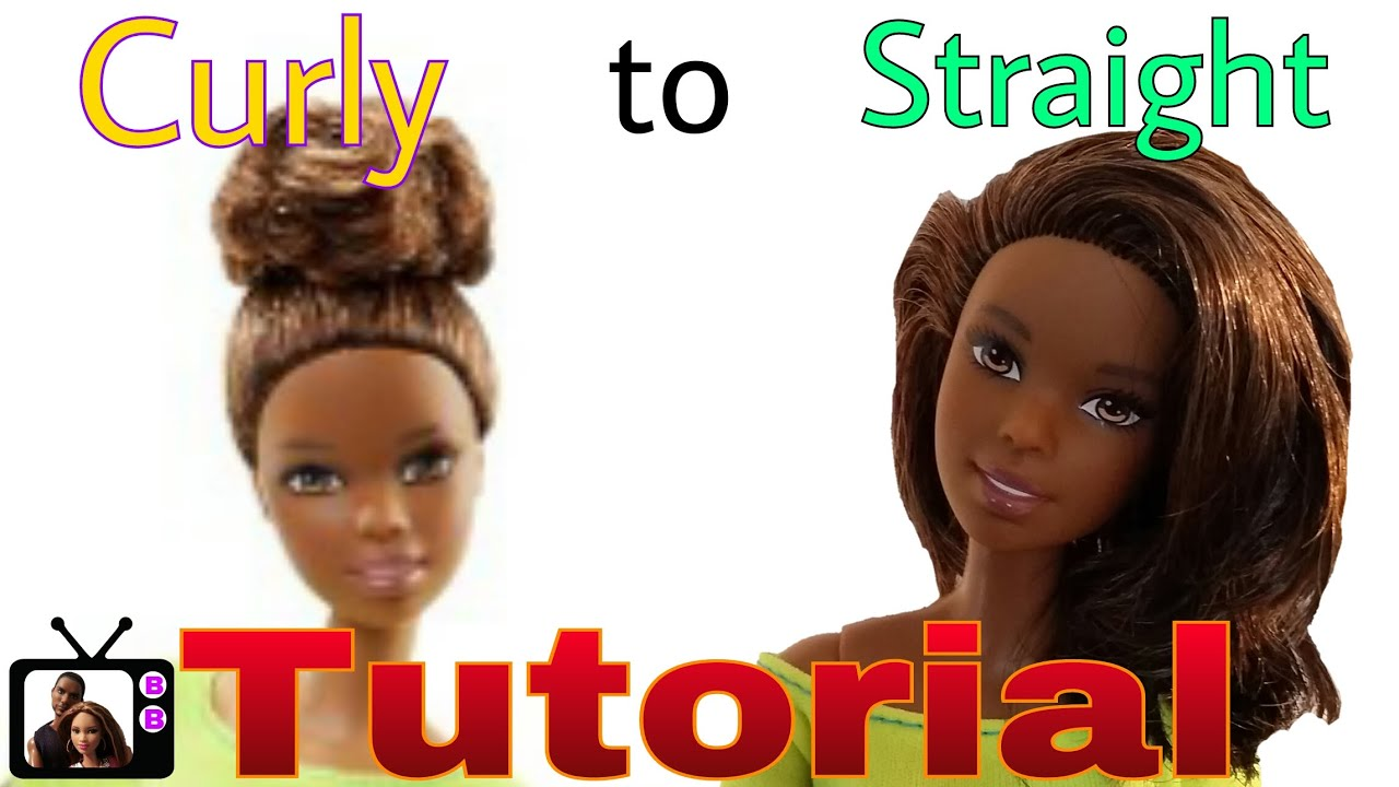 Custom Yellow Top Made to Move Barbie Makeover- DIY Straighten ...