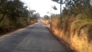 Trecho asfaltado da Toca do leitão em Santa Branca