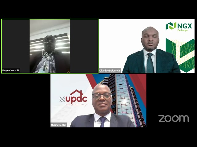 DIGITAL CLOSING GONG CEREMONY TO INTRODUCE CEO OF UPDC PLC - MR. OJO