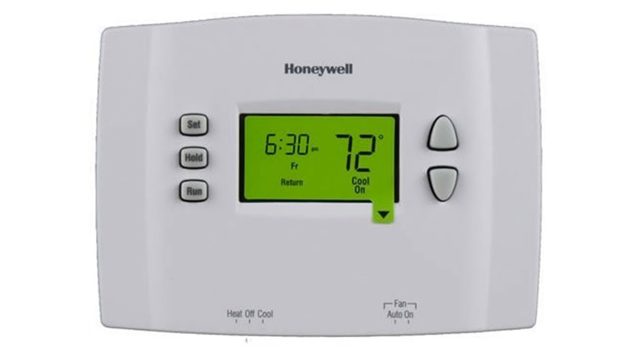 honeywell 5 1 1 programmable thermostat rth2410b1001 youtube rh youtube com Honeywell Programmable Thermostat Questions Rth2410b1019 Honeywell Thermostat