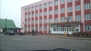 На машине через город Поставы, апрель 2012