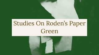 Studies On Roden's Paper: Green, Experimental Video Art and Music by Collin Thomas